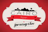 Cairo City Greeting Card — Stock Vector