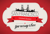 San Francisco City Greeting Card — Stock Vector