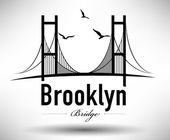 Brooklyn Bridge Typographic Design — Stock Vector