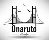 Onaruto Bridge Typographic Design — Stock Vector