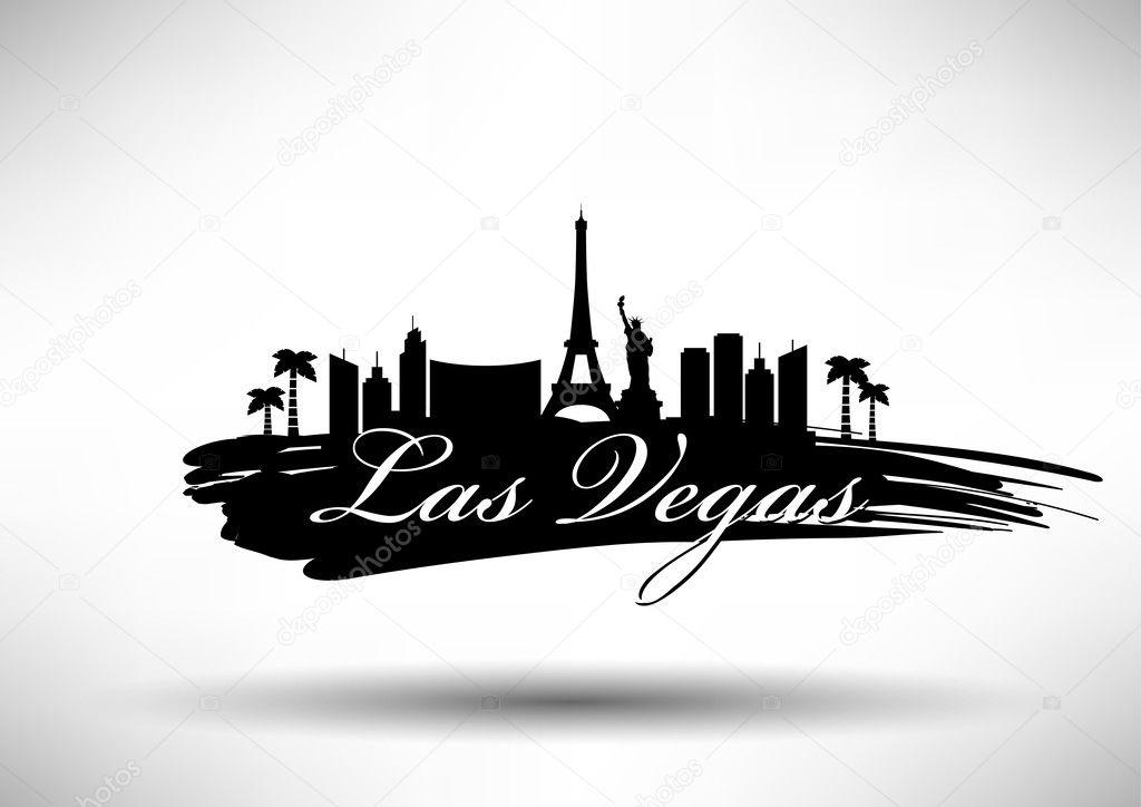 Las vegas city skyline design stock vector kursatunsal for Las vegas skyline tattoo