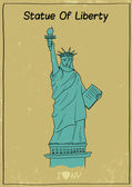 Liberty Statue Poster — Stock Vector