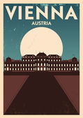 Vienna City Poster — Stockvector