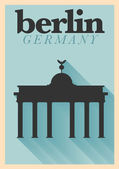Berlin Typographic City Poster — Vettoriale Stock