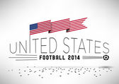 United States Football with Flag — Vetorial Stock