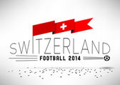 Switzerland Football Design with Flag — Stock Vector