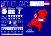 Netherlands Football Infographics — Stock Vector