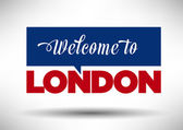 Welcome to London City — Wektor stockowy
