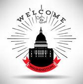 Vítejte do Washingtonu d.c. — Stock vektor
