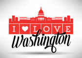 Washington DC Skyline Design — Stock Vector