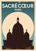 Typographic Paris City Poster Design — Stock Vector
