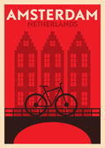 Amsterdam City Poster Design — Stock Vector