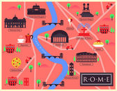 City Map of Rome — Stock Vector