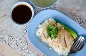 Hainanese chicken rice — Stock Photo