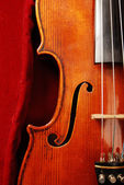 Violin on Red — Stock Photo
