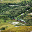 Steam train in Scotland — Stock Photo