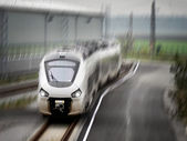 New regional trainset in motion — Stock Photo