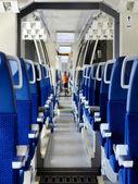 Modern czech train interior — Stock Photo