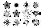 Formas artísticas abstratas conjunto 1 — Vetor de Stock