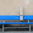 Stock Photo: Funny blue bench with peg