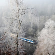Stock Photo: Winter landscape with passenger train