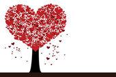 St. Valentine tree illustration — Stock Vector
