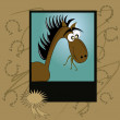 Portrait of a horse — Stock Vector