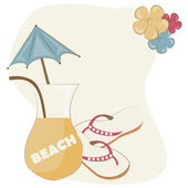 Summer with style — Stock Vector