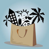 The bag summer — Stock Vector