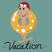 Vacations in a lifesaver — Stock Vector