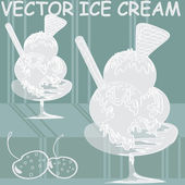 Vectored ice cream — Stock Vector