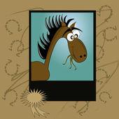Retrato de un caballo — Vector de stock