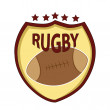 Stock Vector: Symbol of rugby