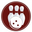 Simple bowling icon — Stockvektor