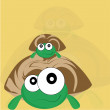 Stock Vector: Happy turtles