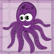 Happy octopus — Stock Vector