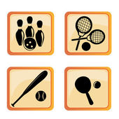 Four icons of funny sports — Stockvektor