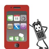 červený telefon — Stock vektor
