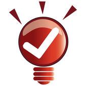 Check idea — Stock Vector