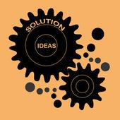 Creëren van ideeën — Stockvector
