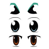 Three types of eyes — Stock Vector