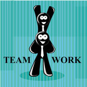 Succes teamworkers — Stockvector