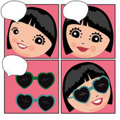 Woman with glasses — Stock Vector