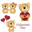 Bears for valentine's day — Stock Vector