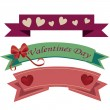 Ribbons and valentine's day — Imagen vectorial