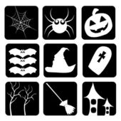 Icons of halloween — Stock Vector