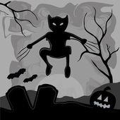 Monster im halloween — Stockvektor