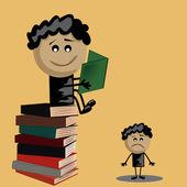 Advantage of the books — Stock Vector