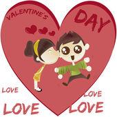 Comic valentine's — Stock Vector