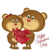 Sevgililer Günü mutlu — Stok Vektör